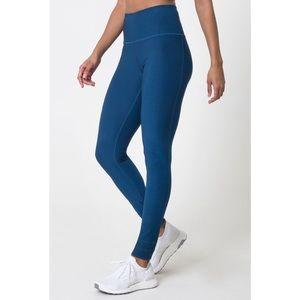 DYI blue high rise full length signature leggings